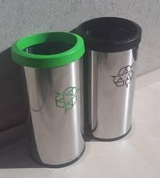 Cestos de acero inox. Brinox con tapa aro para reciclaje
