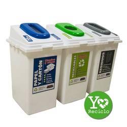 Cestos para reciclaje 60lts