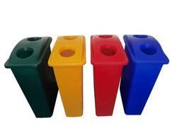 Cesto rectangular Ultra fino – con tapa 2 orificios