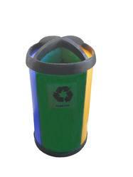 Cestos estación de reciclaje ambiental
