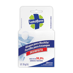 Bloque para mochila inodoro Lysoform