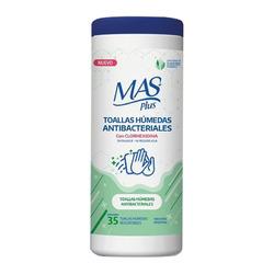 Toallitas húmedas antibacteriales MAS Plus